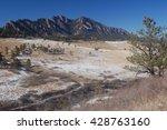 boulder flatirons rocky... | Shutterstock . vector #428763160
