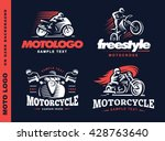 motorcycle shield emblem  logo... | Shutterstock .eps vector #428763640
