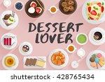 dessert   food illustration in... | Shutterstock .eps vector #428765434