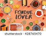 fondue   food illustration in... | Shutterstock .eps vector #428765470