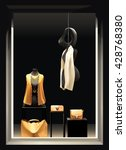 boutique window with black...   Shutterstock .eps vector #428768380