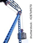 Small photo of The counterweight on the cable car isolated on white background