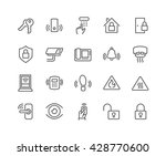simple set of home security... | Shutterstock .eps vector #428770600