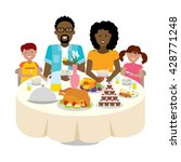 happy multicultural family... | Shutterstock .eps vector #428771248