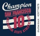 california sport wear... | Shutterstock .eps vector #428774878