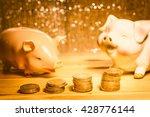 Saving Money Concept  Many Coi...