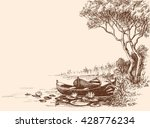 Boats On Shore  Delta Graphic