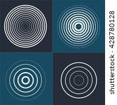 radar screen concentric circle... | Shutterstock .eps vector #428780128