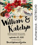 wedding invitation with... | Shutterstock .eps vector #428780140