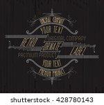 vintage typographic label... | Shutterstock .eps vector #428780143