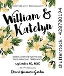 wedding invitation  thank you... | Shutterstock .eps vector #428780194