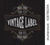 vintage typographic label... | Shutterstock .eps vector #428780254