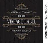 vintage typographic label... | Shutterstock .eps vector #428780314