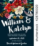 wedding invitation with... | Shutterstock .eps vector #428780320