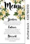 wedding menu floral template. | Shutterstock .eps vector #428780350