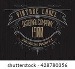 vintage typographic label... | Shutterstock .eps vector #428780356