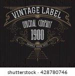 vintage typographic label... | Shutterstock .eps vector #428780746