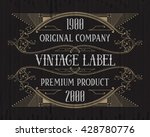 vintage typographic label... | Shutterstock .eps vector #428780776