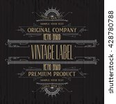 vintage typographic label... | Shutterstock .eps vector #428780788