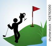 golf design. sport icon.... | Shutterstock .eps vector #428782000