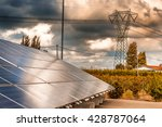 Panels Of A Photovoltaic Plant...