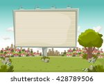 colorful park in the city with...   Shutterstock .eps vector #428789506