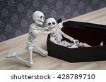 selfie  skeleton self portrait...   Shutterstock . vector #428789710