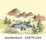 lake in the mountains | Shutterstock .eps vector #428791264