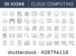 set vector line icons in flat... | Shutterstock .eps vector #428796118