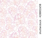 pinc vector pattern with peony... | Shutterstock .eps vector #428802658