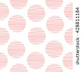 cute cozy seamless pattern with ... | Shutterstock .eps vector #428811184