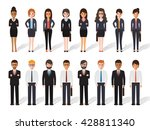 group of business working... | Shutterstock .eps vector #428811340
