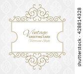 vector vintage collection ... | Shutterstock .eps vector #428814328