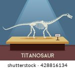 titanosaur bones skeleton in...   Shutterstock .eps vector #428816134