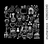 hand draw business doodles... | Shutterstock .eps vector #428820340