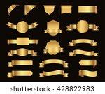 ribbon banner set.vector golden ... | Shutterstock .eps vector #428822983
