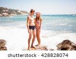 lovers couple in love having... | Shutterstock . vector #428828074