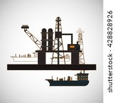 oil industry design | Shutterstock .eps vector #428828926