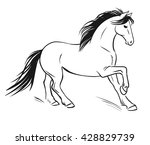 running horse. vector hand... | Shutterstock .eps vector #428829739