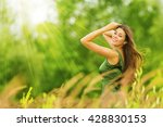 woman happy  beautiful active... | Shutterstock . vector #428830153