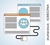 blog design. social media... | Shutterstock .eps vector #428832964