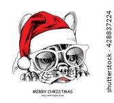 french bulldog portrait in a... | Shutterstock .eps vector #428837224
