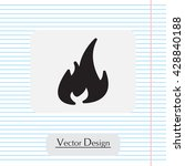 fire icon. fire symbol. stop... | Shutterstock .eps vector #428840188