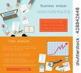 business analyst  teamwork.... | Shutterstock .eps vector #428842648