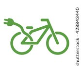 bicycle  ecobike  ecology green ... | Shutterstock .eps vector #428843440