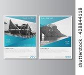 blue brochure layout. annual...   Shutterstock .eps vector #428844118
