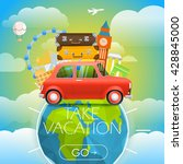 vacation travelling concept.... | Shutterstock .eps vector #428845000