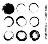 set of empty scribble circles ... | Shutterstock .eps vector #428845888