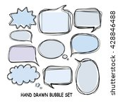 hand drawn bubble set | Shutterstock .eps vector #428846488