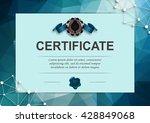 elegant template of diploma... | Shutterstock .eps vector #428849068